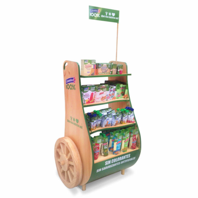 Exhibición de productos Aya